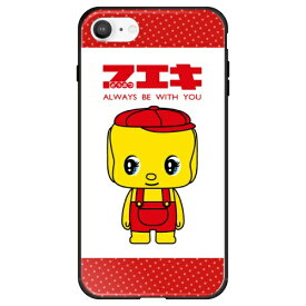 藤家 Fujiya iPhone SE(第2世代)/8/7 フエキ どうぶつのり ガラスハイブリッド A. 赤ドットフエキ ghp7169-bk-a-ipse2