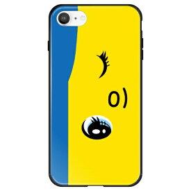 藤家 Fujiya iPhone SE(第2世代)/8/7 フエキ どうぶつのり ガラスハイブリッド D. 青フエキ ghp7169-bk-d-ipse2