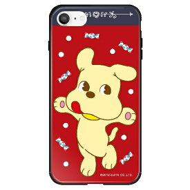 藤家 Fujiya iPhone SE(第2世代)/8/7 不二家 ガラスハイブリッド B. ミルキードッグ ghp7050-bk-b-ipse2