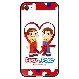 藤家 Fujiya iPhone SE(第2世代)/8/7 不二家 ガラスハイブリッド D. ペコandポコ ghp7050-bk-d-ipse2