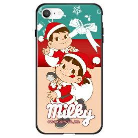 藤家 Fujiya iPhone SE(第2世代)/8/7 不二家 ガラスハイブリッド E. ミルキークリスマス ghp7050-bk-e-ipse2