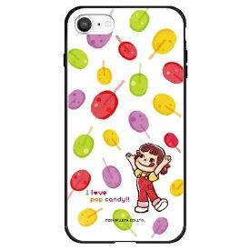 藤家 Fujiya iPhone SE(第2世代)/8/7 不二家 ガラスハイブリッド F. ポップキャンディ ghp7050-bk-f-ipse2