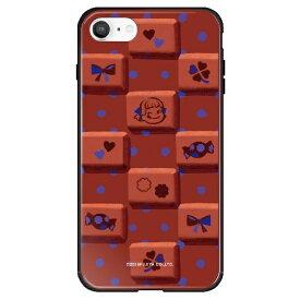 藤家 Fujiya iPhone SE(第2世代)/8/7 不二家 ガラスハイブリッド G. チョコレートペコ ghp7050-bk-g-ipse2