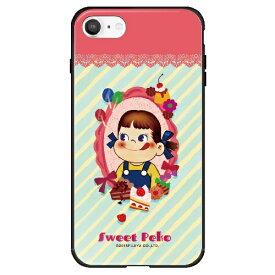 藤家 Fujiya iPhone SE(第2世代)/8/7 不二家 ガラスハイブリッド H. スイーツペコ ghp7050-bk-h-ipse2