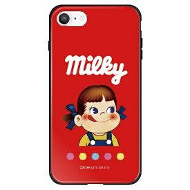 藤家 Fujiya iPhone SE(第2世代)/8/7 不二家 ガラスハイブリッド K. ミルキーパッケージ ghp7050-bk-k-ipse2