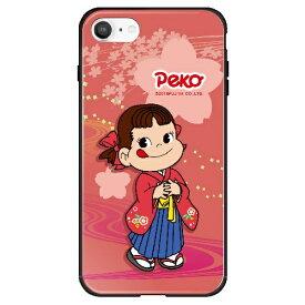 藤家 Fujiya iPhone SE(第2世代)/8/7 不二家 ガラスハイブリッド O. ペコ和柄ピンク ghp7050-bk-o-ipse2