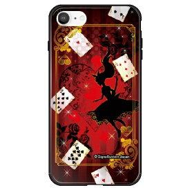 藤家 Fujiya iPhone SE(第2世代)/8/7 幻想デザイン ガラスハイブリッド A. 幻想アリスレッド ghp7053-bk-a-ipse2