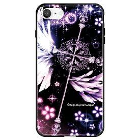 藤家 Fujiya iPhone SE(第2世代)/8/7 幻想デザイン ガラスハイブリッド C. クロス ghp7053-bk-c-ipse2