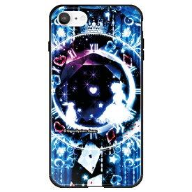 藤家 Fujiya iPhone SE(第2世代)/8/7 幻想デザイン ガラスハイブリッド F. 幻想アリスブルー ghp7053-bk-f-ipse2