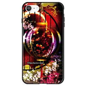 藤家 Fujiya iPhone SE(第2世代)/8/7 幻想デザイン ガラスハイブリッド G. 金魚 ghp7053-bk-g-ipse2
