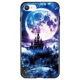 藤家 Fujiya iPhone SE(第2世代)/8/7 幻想デザイン ガラスハイブリッド K. 星月夜 ghp7053-bk-k-ipse2