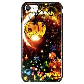 藤家 Fujiya iPhone SE(第2世代)/8/7 幻想デザイン ガラスハイブリッド N. マジカルハロウィン ghp7053-bk-n-ipse2