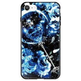 藤家 Fujiya iPhone SE(第2世代)/8/7 幻想デザイン ガラスハイブリッド P. サファイアスティック ghp7053-bk-p-ipse2