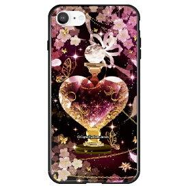 藤家 Fujiya iPhone SE(第2世代)/8/7 幻想デザイン ガラスハイブリッド T. ピンクボトル ghp7053-bk-t-ipse2