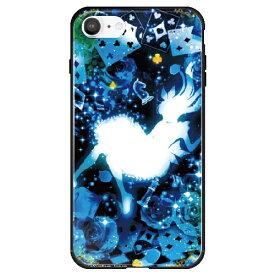 藤家 Fujiya iPhone SE(第2世代)/8/7 幻想デザイン ガラスハイブリッド W .クリスタルブルーアリス ghp7053-bk-w-ipse2