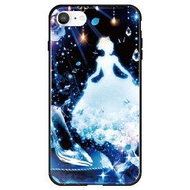 藤家 Fujiya iPhone SE(第2世代)/8/7 幻想デザイン ガラスハイブリッド X .クリスタルシンデレラ ghp7053-bk-x-ipse2
