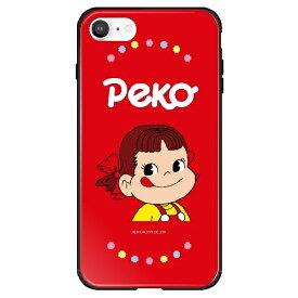 藤家 Fujiya iPhone SE(第2世代)/8/7 不二家 ガラスハイブリッド A. ペコちゃん ghp7165-bk-a-ipse2