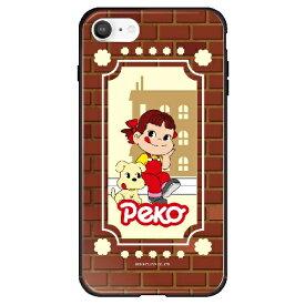 藤家 Fujiya iPhone SE(第2世代)/8/7 不二家 ガラスハイブリッド B. ペコちゃんとドッグ ghp7165-bk-b-ipse2