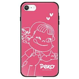 藤家 Fujiya iPhone SE(第2世代)/8/7 不二家 ガラスハイブリッド C. ピンクペコちゃん ghp7165-bk-c-ipse2