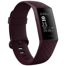 Fitbit フィットビット FB417BYBY-FRCJK Fitbit Charge4 GPS搭載 フィットネストラッカー ローズウッド L/S サイズ
