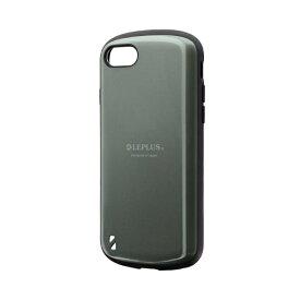 MSソリューションズ iPhone SE(第2世代)4.7インチ 耐衝撃ハイブリッドケース「PALLET」 LP-I9PLDGR グリーン