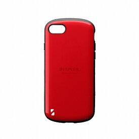 MSソリューションズ iPhone SE(第2世代)4.7インチ 耐衝撃ハイブリッドケース「PALLET」 LP-I9PLRD レッド
