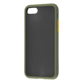 レイアウト rayout iPhone SE(第2世代)4.7インチ/8/7 耐衝撃マットハイブリッド BABY SKIN RT-P24BS1/G カーキ