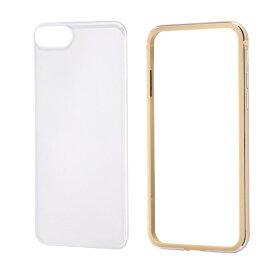 レイアウト rayout iPhone SE(第2世代)4.7インチ/8/7 アルミバンパー+背面パネル(クリア) RT-P24AB/CGM ゴールド