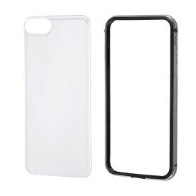 レイアウト rayout iPhone SE(第2世代)4.7インチ/8/7 アルミバンパー+背面パネル(クリア) RT-P24AB/BM ブラック
