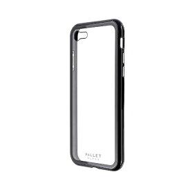 MSソリューションズ iPhone SE(第2世代)4.7インチ ガラスハイブリッド「PALLET GLASS」 LP-I9PLGCBK2 ブラック