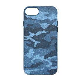 トリニティ Trinity iPhone SE(第2世代)4.7インチ /8/7/6s [NUNO] バックケース カモフラ TR-IP204-NNM-CBLCM ブルー