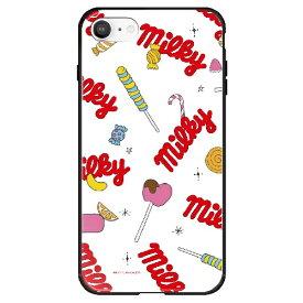 藤家 Fujiya iPhone SE(第2世代)/8/7 不二家 ガラスハイブリッド G. ミルキー ghp7165-bk-g-ipse2