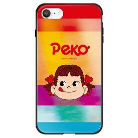 藤家 Fujiya iPhone SE(第2世代)/8/7 不二家 ガラスハイブリッド H. カラフルペコちゃん ghp7165-bk-h-ipse2