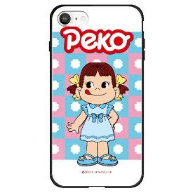 藤家 Fujiya iPhone SE(第2世代)/8/7 不二家 ガラスハイブリッド I. おでかけペコちゃん ghp7165-bk-i-ipse2