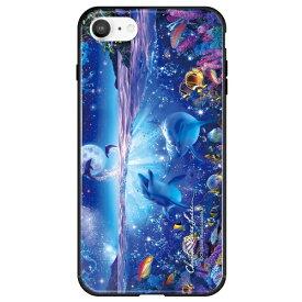藤家 Fujiya iPhone SE(第2世代)/8/7 ラッセン ガラスハイブリッド A. WISH ON A STAR ghp7251-bk-a-ipse2