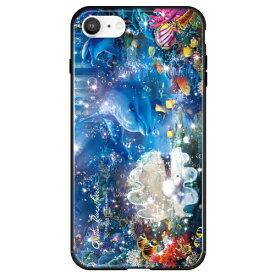 藤家 Fujiya iPhone SE(第2世代)/8/7 ラッセン ガラスハイブリッド B. EUREKA ghp7251-bk-b-ipse2