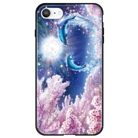 藤家 Fujiya iPhone SE(第2世代)/8/7 ラッセン ガラスハイブリッド D. SAKURA FANTASY ghp7251-bk-d-ipse2