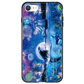 藤家 Fujiya iPhone SE(第2世代)/8/7 ラッセン ガラスハイブリッド A. THE DRAMATIC NIGHT ghp7252-bk-a-ipse2