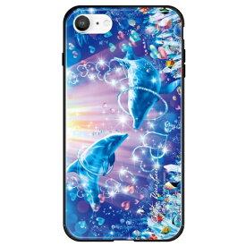 藤家 Fujiya iPhone SE(第2世代)/8/7 ラッセン ガラスハイブリッド C. RING OF LOVE ghp7252-bk-c-ipse2