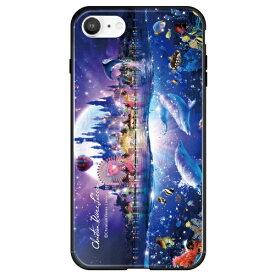 藤家 Fujiya iPhone SE(第2世代)/8/7 ラッセン ガラスハイブリッド D. DREAM TIME ghp7252-bk-d-ipse2