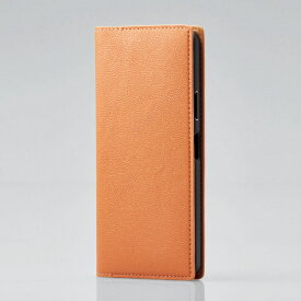 エレコム ELECOM Xperia 10 II ソフトレザーケース イタリアン(Coronet) オレンジスカッシュ オレンジスカッシュ PM-X202PLFYILDR