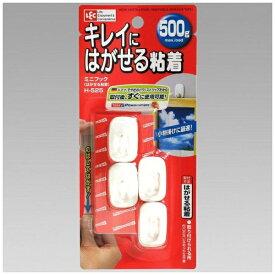 レック LEC ミニフック(はがせる粘着)4個入 ホワイト H-525