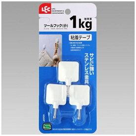 レック LEC ツ−ルフック(小)3個入 ホワイト H-276