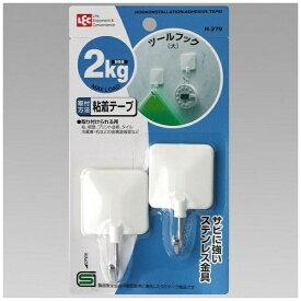 レック LEC ツ−ルフック(大)2個入 ホワイト H-279