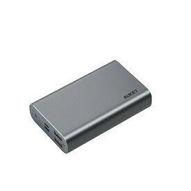 AUKEY オーキー モバイルバッテリー Sprint Go10 18W PD対応出力入力 グレー PB-XD12-GY [10000mAh /USB Power Delivery・Quick Charge対応 /3ポート /充電タイプ]
