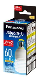 パナソニック Panasonic パルックボール D形 E17口金 電球60形タイプ クール色 EFD15ED/11E/E17F2