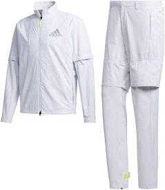 アディダス adidas メンズ ハイストレッチレインスーツ(Lサイズ/ホワイト) GKI16