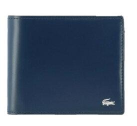 ラコステ LACOSTE 二つ折り財布 Mens Premium 2(約W11.5×H10×D2cm/ピーコート) NH0111K