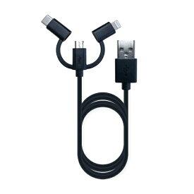 樫村 KASHIMURA 1.2m[USB-C+Lightning+micro USB ⇔ USB-A]2.0ケーブル 充電・転送 MFi認証 AJ-609