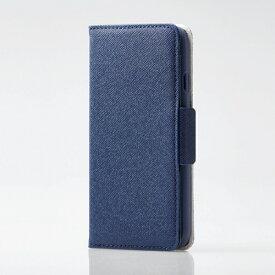 エレコム ELECOM iPhone SE(第2世代)4.7インチ対応 ソフトレザーケース 女子向 磁石付 ネイビー PM-A19APLFJM1NV